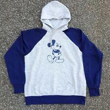 Vintage 80s Disney Casuals Mickey Mouse Raglan Hoodie Sweatshirt Disney
