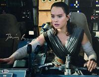 Daisy Ridley Signed Star Wars Jedi Skywalker 11x14 Photo - Rey Beckett BAS 35