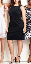 DRESSBARN BEYOND by ASHLEY GRAHAM BLACK SLEEVELESS W/ LACE  DRESS PLUS Sz 18W