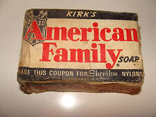 Vintage Kirk's American Family Soap Bar -  free nylons coupon wrapper NOS