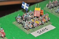 15mm medieval / english - men at arms 12 figs - cav (56615)