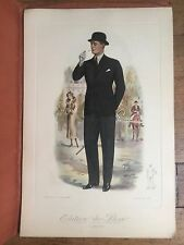 9 Pictures -- 1920-30s Men's Fashion Prints in Color Large Size Nice for Framing