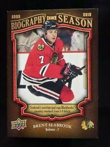 2009-10 Upper Deck Biography Of A Season Brent Seabrook #BOS7 Chicago Blackhawks