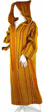Vtg 70's Lynda Brothers Hand Woven Wool Hooded Caftan, New Mexico Textile Art
