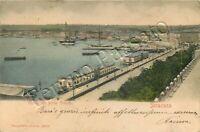 Cartolina di Siracusa, porto e viale alberato