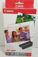 Canon Selphy CP KP-361P Postcard Size Color Ink/Paper Set open box