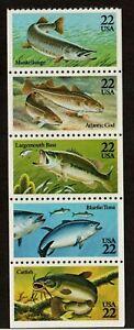 Scott 2205-2209 22¢ Fish MNH Free Shipping