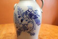 Rowe Pottery Salt Glaze Birds Thrushes Handled Churn Table Lamp Jedd Peters 2001