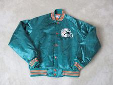 VINTAGE Chalk Line Miami Dolphins Nylon Jacket Adult Medium Satin Mens NFL 90s
