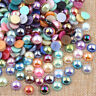 2-14mm Flat Back Pearl Rhinestones Face Gems Flatback Beads Craft Decor