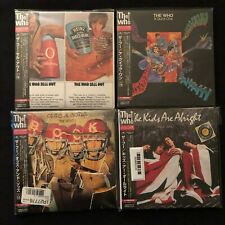 The Who Sealed Japanese Super Rare 4 CD Lot Import all with Obis sleeve/wrap