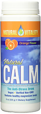 Natural Vitality Magnesium Calm Supplement, Orange, 8 Ounce