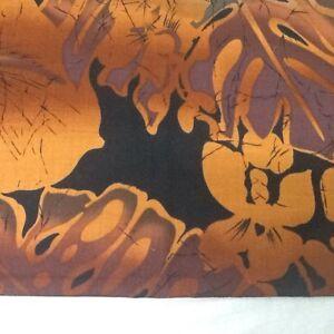 BATIK Tropical Leaf  Print 100% Cotton Sewing fabric 1/2Yard