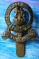 14th Kings Hussars COLLAR Badge WM Slider maker JR GAUNT ANTIQUE Original