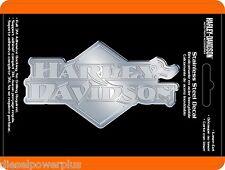 harley davidson motorcycle hog stainless steel emblem decal sticker badge logo