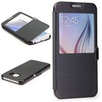 Samsung Galaxy S6 View Case Schutz Hülle Sicht Fenster Cover Handyhülle Wallet