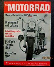 Das Motorrad 01/67 Titelbild:Harley-Davidson 1200 FLH 74,Panhard KS,Puch 250 SGS