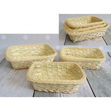 3er Set Körbe geflochten Aufbewahrungskorb Obstkorb Brot Deko Polyrattan
