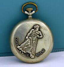 "Vintage mechanical pocket watch Molnija ""brutal man"" 18 Jewels USSR (Soviet)"