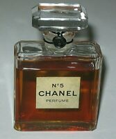 Vintage Perfume Bottle Chanel No 5 Bottle Late 1970s/80s 1 OZ Unused - Full
