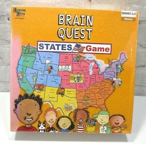 Brain Quest States Game Grades 3 to 6 by University Games-Memory game 2-4 player