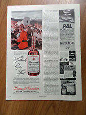 1949 Harwood's Canadian Blended Whiskey Ad  Gold Rush North-West Mounties
