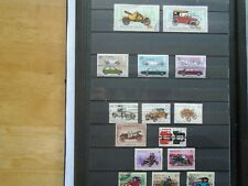 Cars. Worldwide. Private collection of 15 different Stamps. Some high Value.