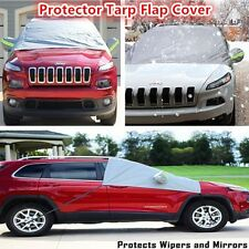 Magnets Snow Ice Frost & Sun Shade Tarp Flap Cover For SUV Offroad Protection#