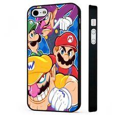 Super Mario 90s Funda Protectora De Teléfono Negro de juego de Nintendo se ajusta iPHONE