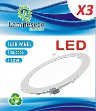Lot de 3 Spot Encastrable LED Downlight Panel Extra-Plat 12W Blanc Neutre