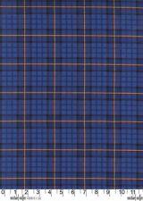 Nutcracker Plaid Royal Blue Michael Miller Fabric FQ +More 100%Cotton