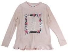 T-shirts et débardeurs roses à longueur de manches manches longues en polyester pour fille de 2 à 16 ans