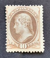 US Scott #161 10c Brown Jefferson Mint SCV $1,000