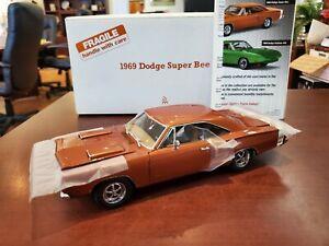 Rare 1969 Dodge Super Bee Brown 1/24 Diecast The Danbury Mint + Paperwork NIB