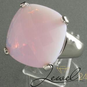 Judith Williams Damen Solitär-Ring rhodiniert mit Water-Opal rosa Damenring