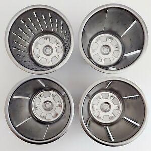 Lot of 4 KitchenAid Rotor Slicer & Shredder RVSA Blades / Cones Replacement