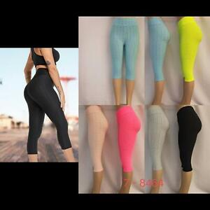 Ladies Womens High Waist Leggings Shorts Active wear Gym Sports Yoga Fitness New