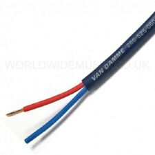 Van Damme Blue Series Studio Grade Speaker Cable 2 X 1.5 mm - sold by the metre