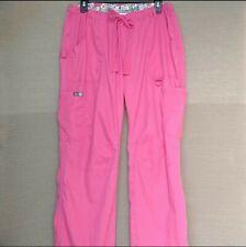 Koi By Kathy Peterson Women's Scrub Cargo Pants Size Large Pink. Very Nice!