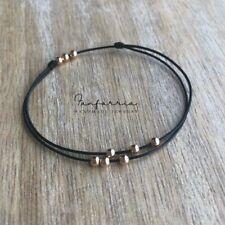 Anklet, Waterproof bracelet Amelia, Rose Gold Bead
