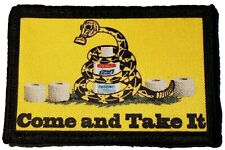 Come and Take it Toilet Paper Virus  Morale Patch Tactical  Army
