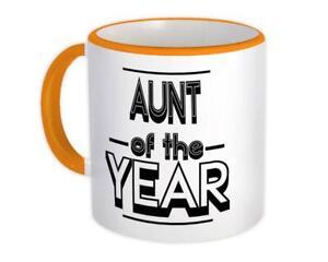 Gift Mug : AUNT of The Year Christmas Birthday Secret Santa Idea Holidays