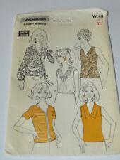 sewing pattern shirt  blouse size 12