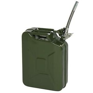 Portable 20L Metal Jerry Can Car Petrol Storage Fuel Oil Container Army Green