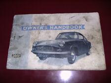 Bond Equipe GT 1963 Owner's Manual VERY RARE Manual de Usuario