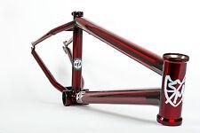 "S&M 22 INCH ATF FRAME 22.125 TRANS RED FACTION INDUCT BMX BIKE 22"" SE 22 INCH"