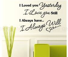 Always love you Wall quotes decals Removable stickers home decor art DIY mural