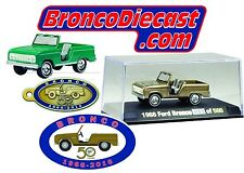 Johnny Lightning Golden 50th Anniversary diecast bronco only 500 made! Free ship