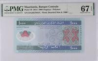 Mauritania 1000 Ouguiya 2014 P 19 Polymer SUPERB GEM UNC PMG 67 EPQ HIGH