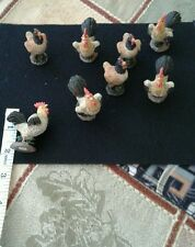 EIGHT ASSORTED ROOSTER AND HEN
